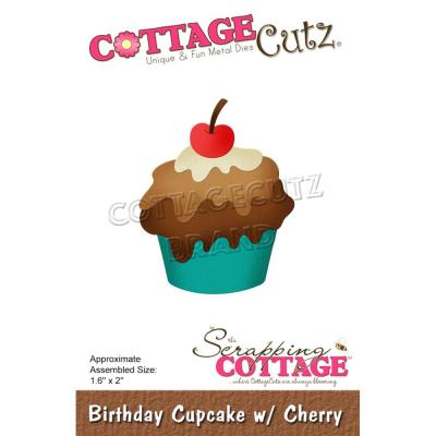 CottageCutz Stanzschablonen - Birthday Cake With Cherry