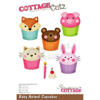 CottageCutz Stanzschablonen - Baby Animal Cupcakes