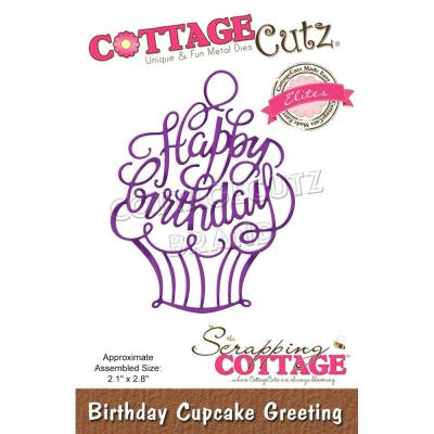 CottageCutz Stanzschablone - Birthday Cupcake Greeting