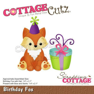 CottageCutz Stanzschablonen -  Birthday Fox