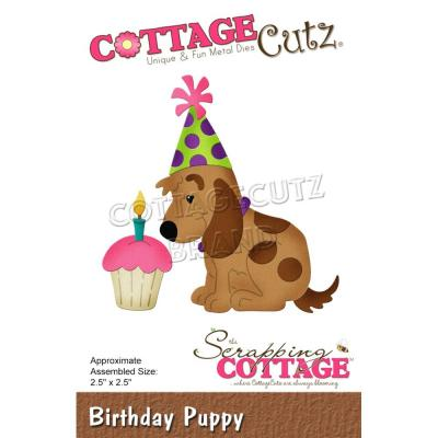 CottageCutz Stanzschablonen -  Birthday Puppy