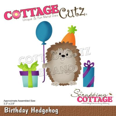 CottageCutz Stanzschablonen - Birthday Hedgehog