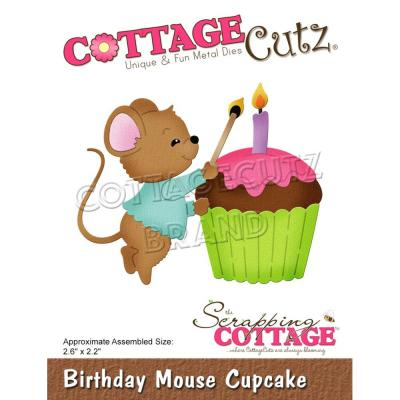 CottageCutz Stanzschablonen - Birthday Mouse Cupcake
