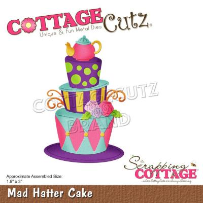 CottageCutz Stanzschablonen - Mad Hatter Cake