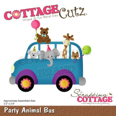 CottageCutz Stanzschablonen - Party Animal Bus
