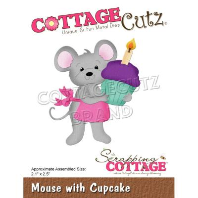 CottageCutz Stanzschablonen -  Mouse With Cupcake