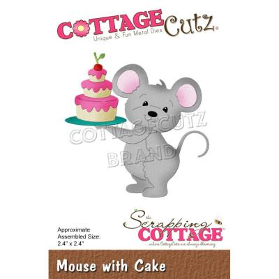 CottageCutz Stanzschablonen - Mouse With Cake