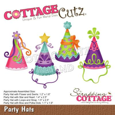 CottageCutz Stanzschablonen - Party Hats