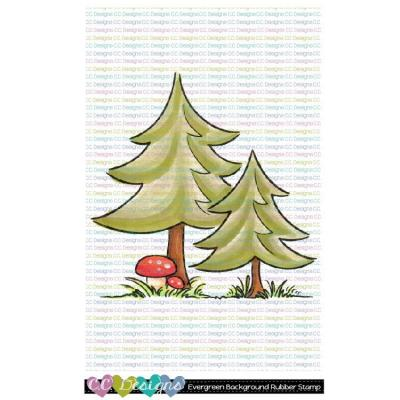 C.C. Designs Rubber Stamp - Evergreen Background