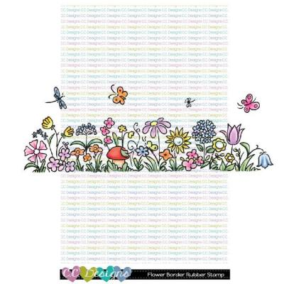 C.C. Designs Rubber Stamp - Flower Border