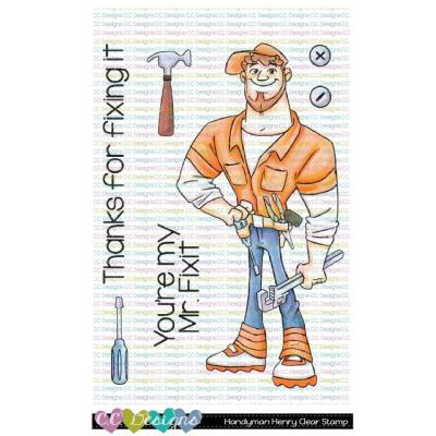 C.C. Designs Clear Stamps - Handyman Henry