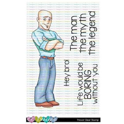 C.C. Designs Clear Stamps - Trevor