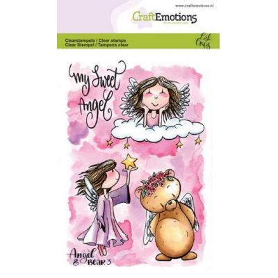 CraftEmotions Clear Stamps - Angel & Bear 3