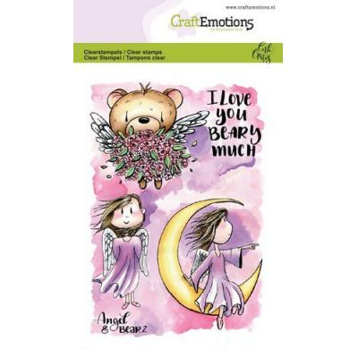 CraftEmotions Clear Stamps - Angel & Bear 2