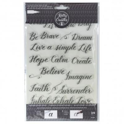 Kelly Creates Clear Stamps - Traceable Quote