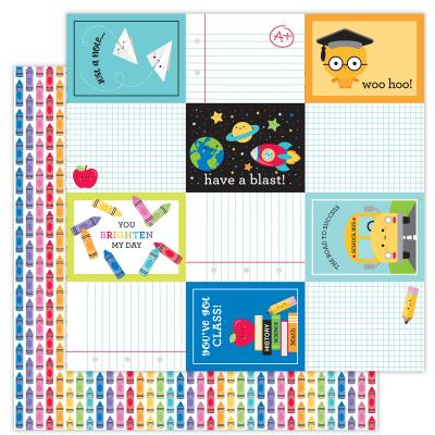 Doodlebugs School Days Designpapier - Color Me Happy