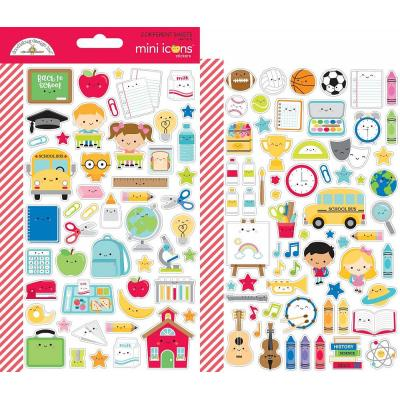 Doodlebugs School Days - Mini Icon Sticker