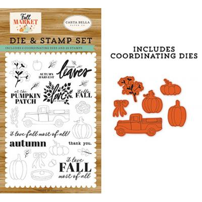 Carta Bella Fall Market Clear Stamps und Stanzschablonen - Autumn Harvest Set
