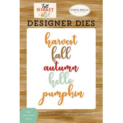 Carta Bella Fall Market Stanzschablonen - Hello Autumn Word