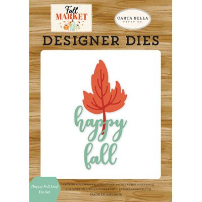 Carta Bella Fall Market Stanzschablonen - Happy Fall Leaf
