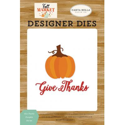 Carta Bella Fall Market Stanzschablonen - Give Thanks Pumpkin