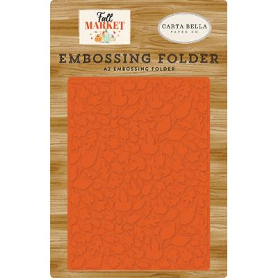 Carta Bella Fall Market Embossing Folder - Welcome Autumn