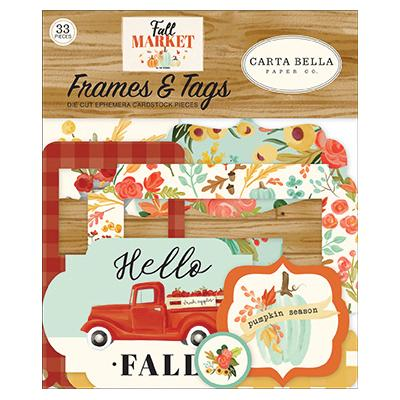 Carta Bella Fall Market Die Cuts - Frames & Tags