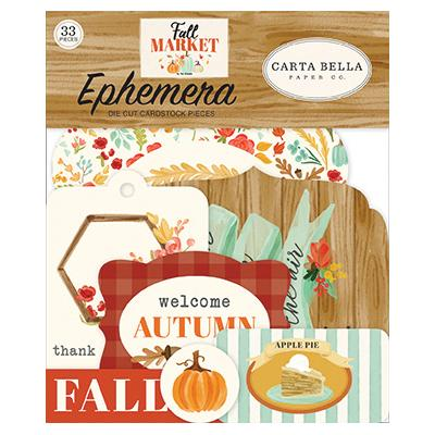 Carta Bella Fall Market Die Cuts - Ephemera