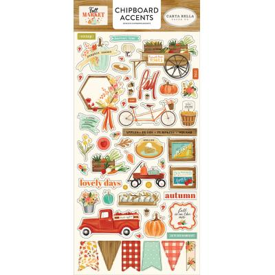 Carta Bella Fall Market Die Cuts - Chipboard Accents