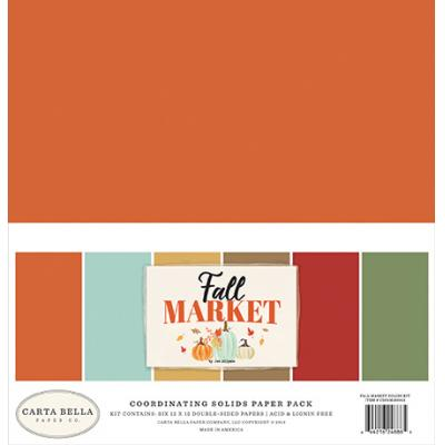 Carta Bella Fall Market - Solids Paper Pack