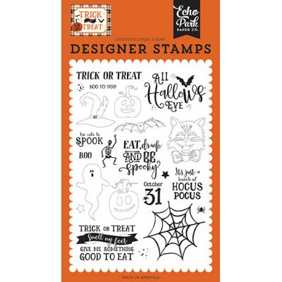Echo Park Trick or Treat Clear Stamps - All Hallows Eve