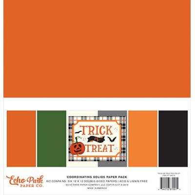 Echo Park Trick or Treat - Solids Paper Pack