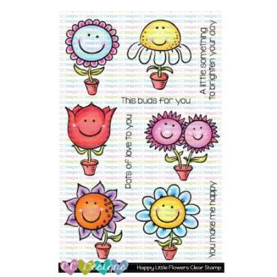 C.C. Designs Clear Stamps - Happy Little Flowers
