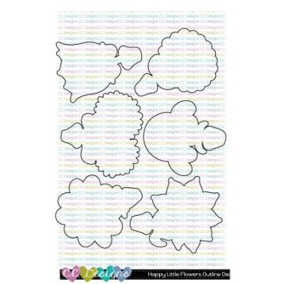 C.C. Designs Outline-Stanzschablonen - Happy Little Flowers