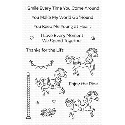 My Favorite Things Clear Stamps - Carousel Horses