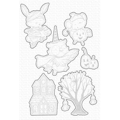 My Favorite Things Outline-Stanzschablonen - Spooktacular Friends