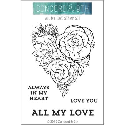 Concord & 9th Clear Stamps - All My Love