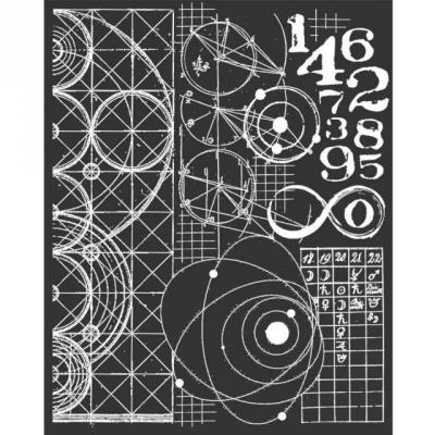 Stamperia Cosmos Astronomy & Numbers - Thick Stencil