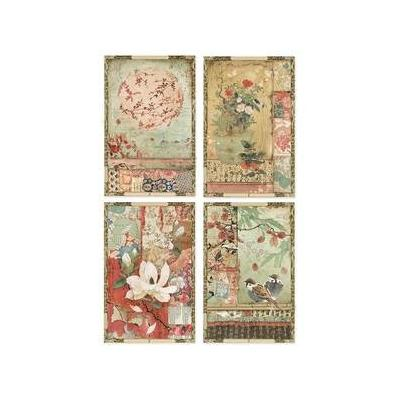 Stamperia Rice Paper - Japanese Dreams Postcards