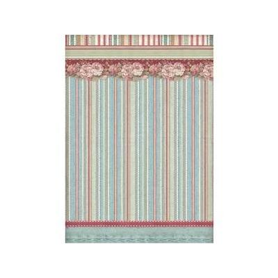 Stamperia Grand Hotel Rice Paper - Striped Wallpaper