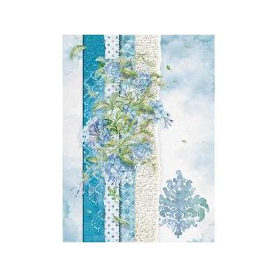 Stamperia Flowers For You Light Blue - Reispapier