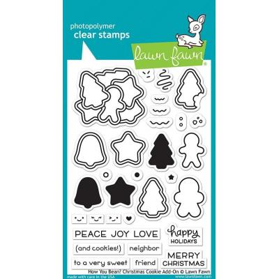 Lawn Fawn Clear Stamps - How You Bean? Christmas Cookie Add-On