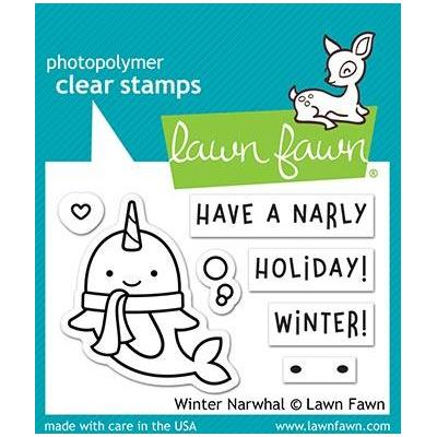 Lawn Fawn Clear Stamps - Winter Narwhal