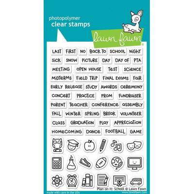 Lawn Fawn Clear Stamps - Plan On It: School
