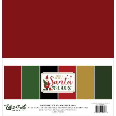 Echo Park Here Comes Santa Claus Cardstock - Solids Kit
