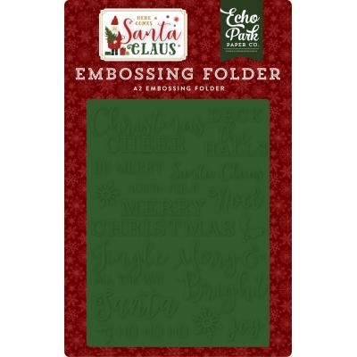 Echo Park Here Comes Santa Claus Embossingfolder - Christmas Cheer