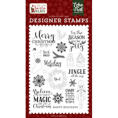 Echo Park Here Comes Santa Claus Clear Stamps - Magic Of Christmas