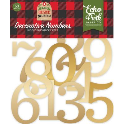 Echo Park My Favorite Christmas - Gold Foil Decorative Numbers