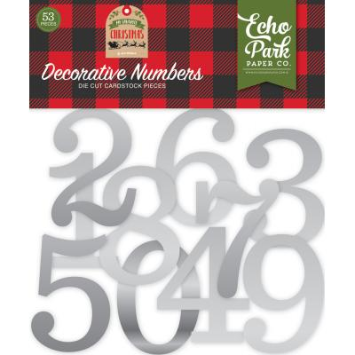 Echo Park My Favorite Christmas - Silver Foil Decorative Numbers