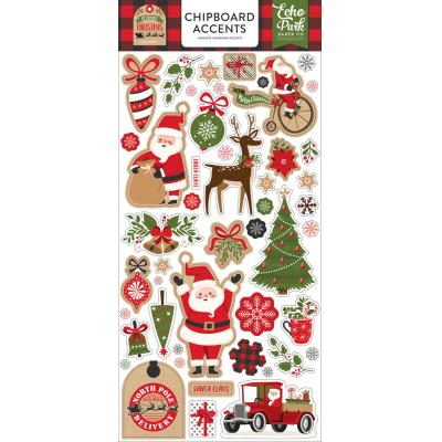 Echo Park My Favorite Christmas Die Cuts - Chipboard Accents